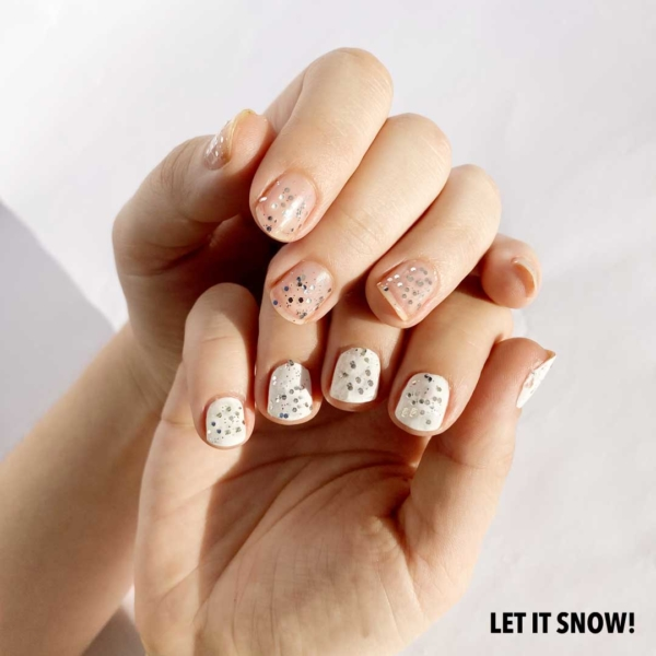 Let It Snow Nail Text 1
