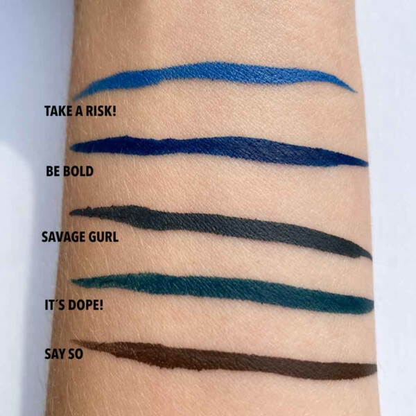 Colored Eyeliners Swatches